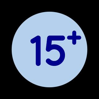 Edad mínima 15 años