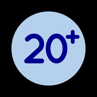 Edad mínima 20 años